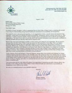 charity navigator letter